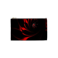 Abstract Curve Dark Flame Pattern Cosmetic Bag (small)