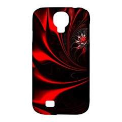 Abstract Curve Dark Flame Pattern Samsung Galaxy S4 Classic Hardshell Case (pc+silicone)