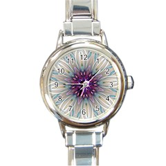 Mandala Kaleidoscope Ornament Round Italian Charm Watch by Wegoenart