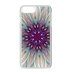 Mandala Kaleidoscope Ornament Apple Iphone 8 Plus Seamless Case (white) by Wegoenart