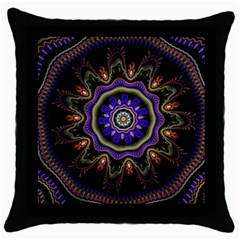 Fractal Vintage Colorful Decorative Throw Pillow Case (black)