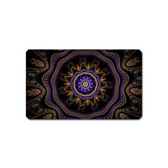 Fractal Vintage Colorful Decorative Magnet (name Card)
