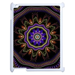 Fractal Vintage Colorful Decorative Apple Ipad 2 Case (white)