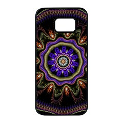 Fractal Vintage Colorful Decorative Samsung Galaxy S7 Edge Black Seamless Case by Wegoenart