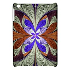 Fractal Splits Silver Gold Apple Ipad Mini Hardshell Case