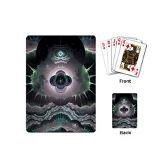 Fractal Pattern Texture Design Playing Cards (mini)
