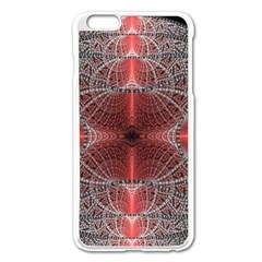 Fractal Diamond Circle Pattern Apple Iphone 6 Plus/6s Plus Enamel White Case