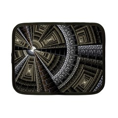 Fractal Circle Circular Geometry Netbook Case (small)