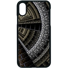 Fractal Circle Circular Geometry Apple Iphone X Seamless Case (black) by Wegoenart