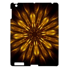 Mandala Gold Golden Fractal Apple Ipad 3/4 Hardshell Case