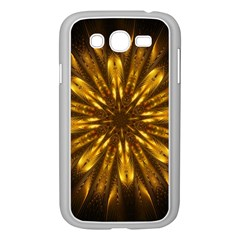 Mandala Gold Golden Fractal Samsung Galaxy Grand Duos I9082 Case (white)