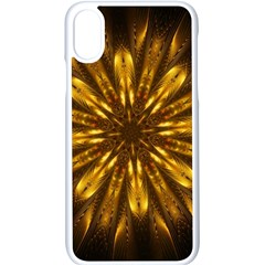 Mandala Gold Golden Fractal Apple Iphone X Seamless Case (white)