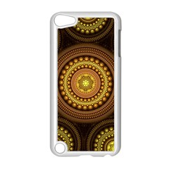 Fractal Yellow Gold Circles Apple Ipod Touch 5 Case (white)