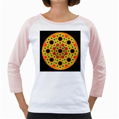 Fractal Art Design Pattern Fractal Girly Raglan