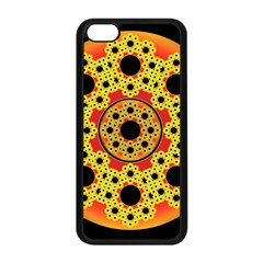 Fractal Art Design Pattern Fractal Apple Iphone 5c Seamless Case (black)