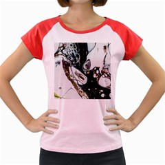 Abstract Structure Pattern Women s Cap Sleeve T Shirt