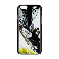 Abstract Structure Pattern Apple Iphone 6/6s Black Enamel Case