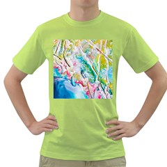 Art Abstract Abstract Art Green T Shirt by Wegoenart