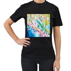 Art Abstract Abstract Art Women s T Shirt (black) (two Sided)