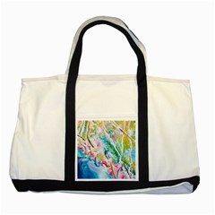 Art Abstract Abstract Art Two Tone Tote Bag by Wegoenart