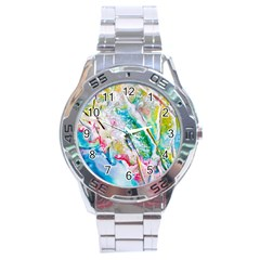 Art Abstract Abstract Art Stainless Steel Analogue Watch