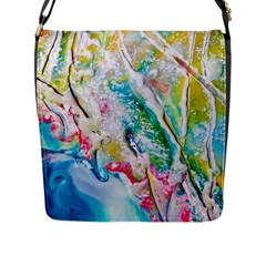 Art Abstract Abstract Art Flap Closure Messenger Bag (l)