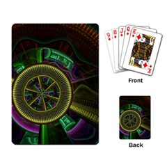 Fractal Threads Colorful Pattern Playing Cards Single Design