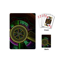 Fractal Threads Colorful Pattern Playing Cards (mini)