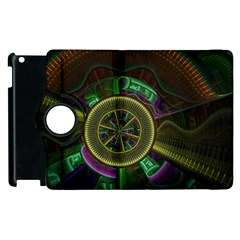 Fractal Threads Colorful Pattern Apple Ipad 3/4 Flip 360 Case