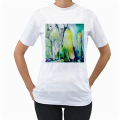 Art Abstract Modern Abstract Women s T Shirt (white) (two Sided) by Wegoenart