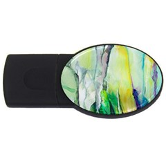 Art Abstract Modern Abstract Usb Flash Drive Oval (4 Gb)