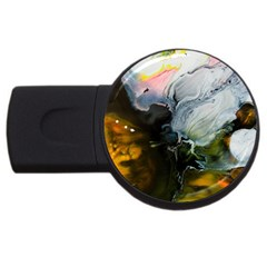 Art Abstract Painting Abstract Usb Flash Drive Round (4 Gb) by Wegoenart