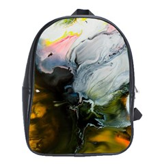 Art Abstract Painting Abstract School Bag (large)
