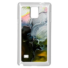 Art Abstract Painting Abstract Samsung Galaxy Note 4 Case (white) by Wegoenart