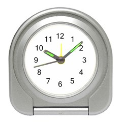 Abstract #1   Vii  Black & White Travel Alarm Clock