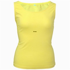 Abstract #1   Vii  Black & White Women s Yellow Tank Top