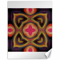 Kaleidoscope Art Pattern Ornament Canvas 18  X 24