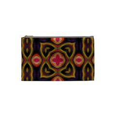 Kaleidoscope Art Pattern Ornament Cosmetic Bag (small) by Wegoenart