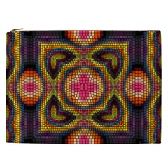 Kaleidoscope Art Pattern Ornament Cosmetic Bag (xxl)