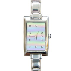Holographic Foil Pastels Wallpaper Rectangle Italian Charm Watch