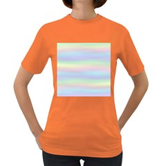 Holographic Foil Pastels Wallpaper Women s Dark T Shirt