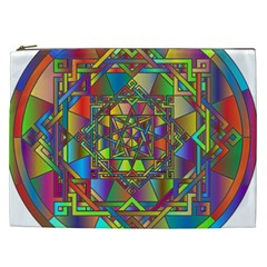 Mandala Star Interlocked Cosmetic Bag (xxl)