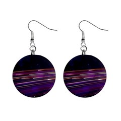 Abstract Cosmos Space Particle Mini Button Earrings