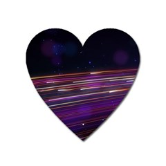 Abstract Cosmos Space Particle Heart Magnet by Wegoenart