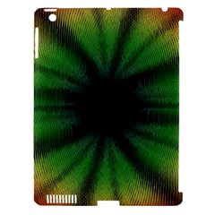 Sunflower Digital Flower Black Hole Apple Ipad 3/4 Hardshell Case (compatible With Smart Cover)