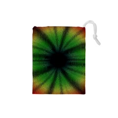 Sunflower Digital Flower Black Hole Drawstring Pouch (small)