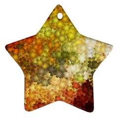 Autumn Kaleidoscope Art Pattern Star Ornament (two Sides)
