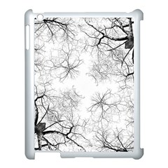 Tree Knots Bark Kaleidoscope Apple Ipad 3/4 Case (white)