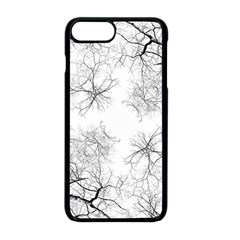 Tree Knots Bark Kaleidoscope Apple Iphone 8 Plus Seamless Case (black) by Wegoenart