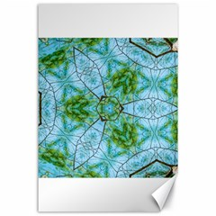 Forest Kaleidoscope Pattern Canvas 24  X 36  by Wegoenart